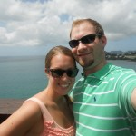 Ross Hughes with his wife Brittany in St. Lucia on their honeymoon in 2011.
