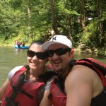 Lauren Berry with her husband Jared rafting on the Nantahala River for their second anniversary in 2012.